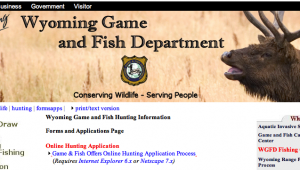 The Wyoming Game and Fish website needs a little more than an overhaul.
