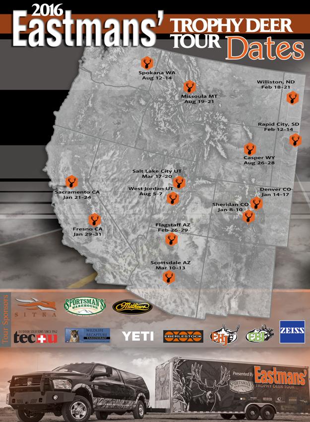 2016 deer tour web map